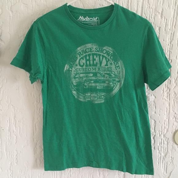 Chevy T Shirts >> Hybrid Vintage Green Chevy T Shirt Men S Small